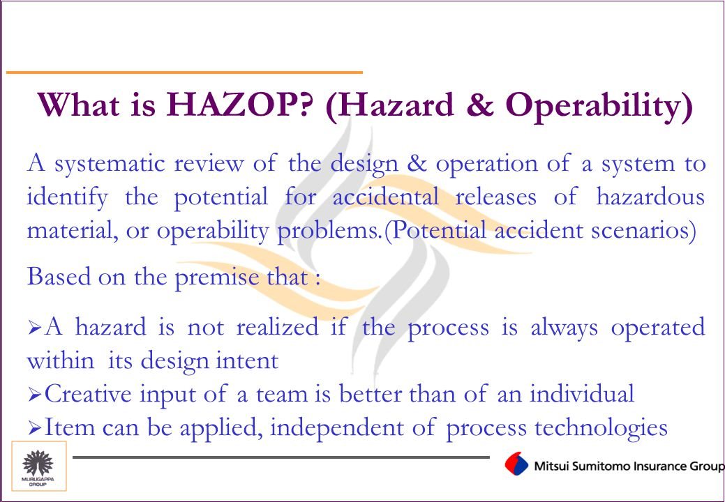 HAZOP Hazard & Operability studies
