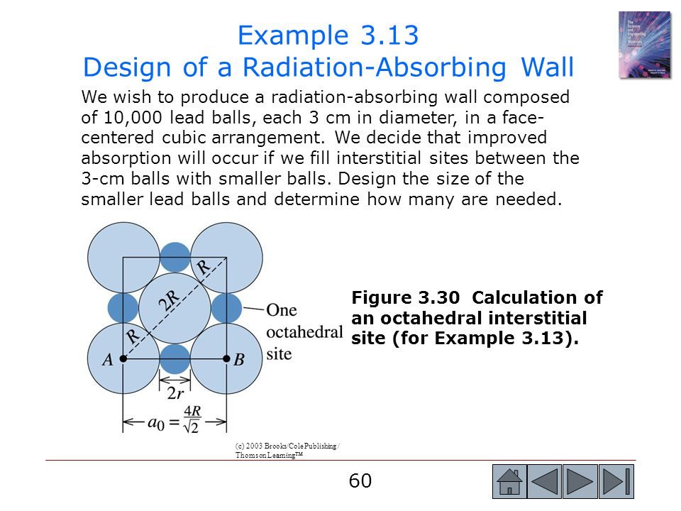 60 We wish to produce a radiation-absorbing wall composed of 10,000 lead balls, each 3 cm in diameter, in a face- centered cubic arrangement. We decid