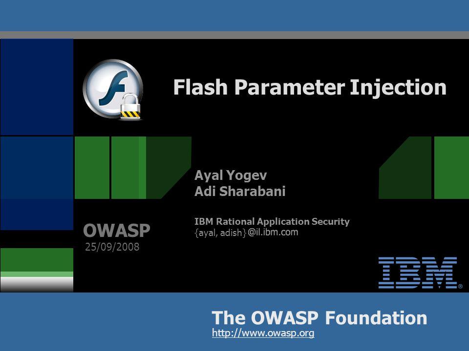 OWASP 22 Cross-Site Scripting through Flash (Example)