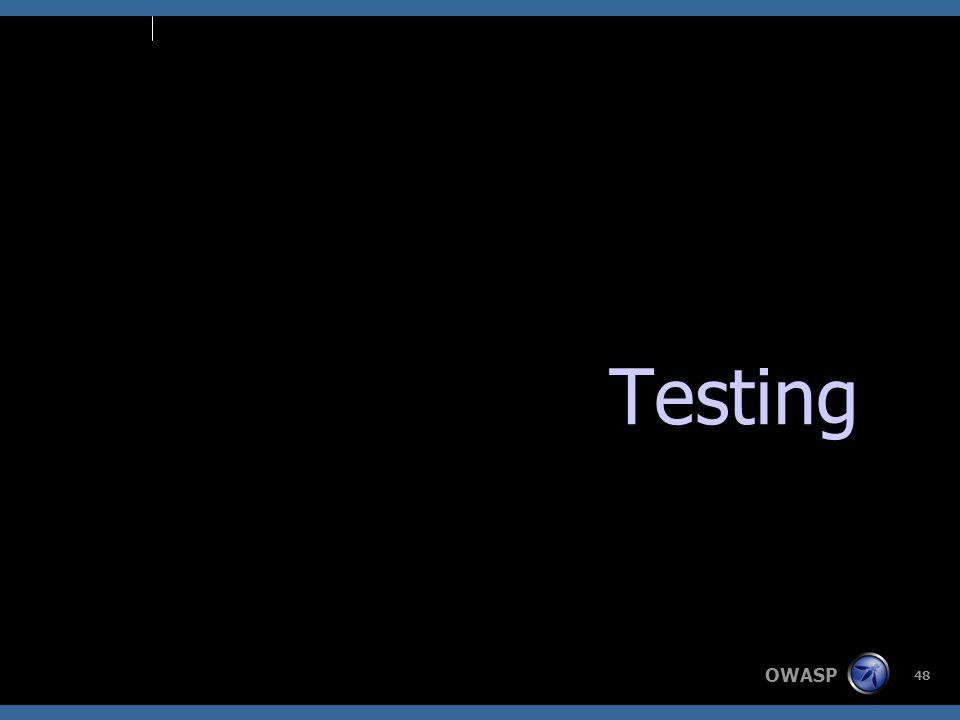 OWASP 48 Testing