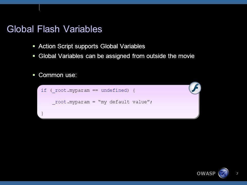 OWASP 18 Normal Usage