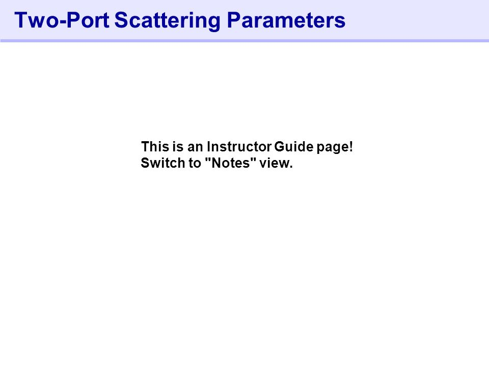984- Lab 4: Using.LIN and S-Parameters During this lab, you will: 1.Use the.LIN command to extract S-parameters.