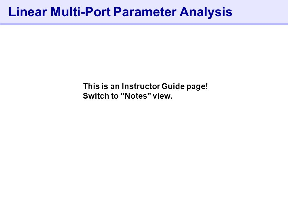 904- Mixed-Mode S-Parameter Example Results (1/2) .