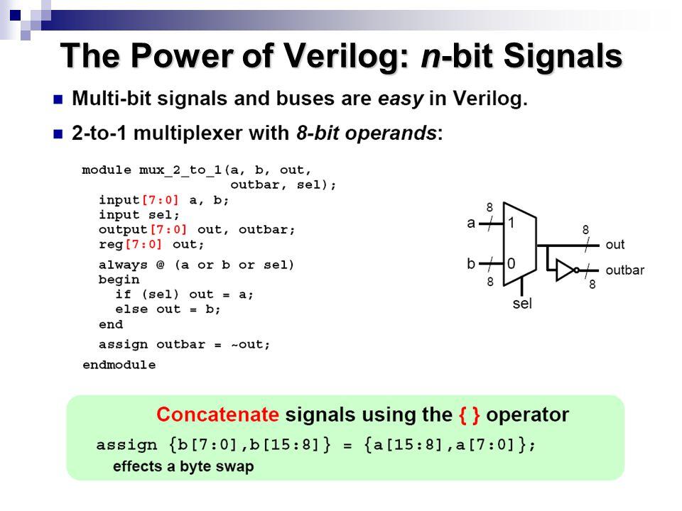 The Power of Verilog: Integer Arithmetic