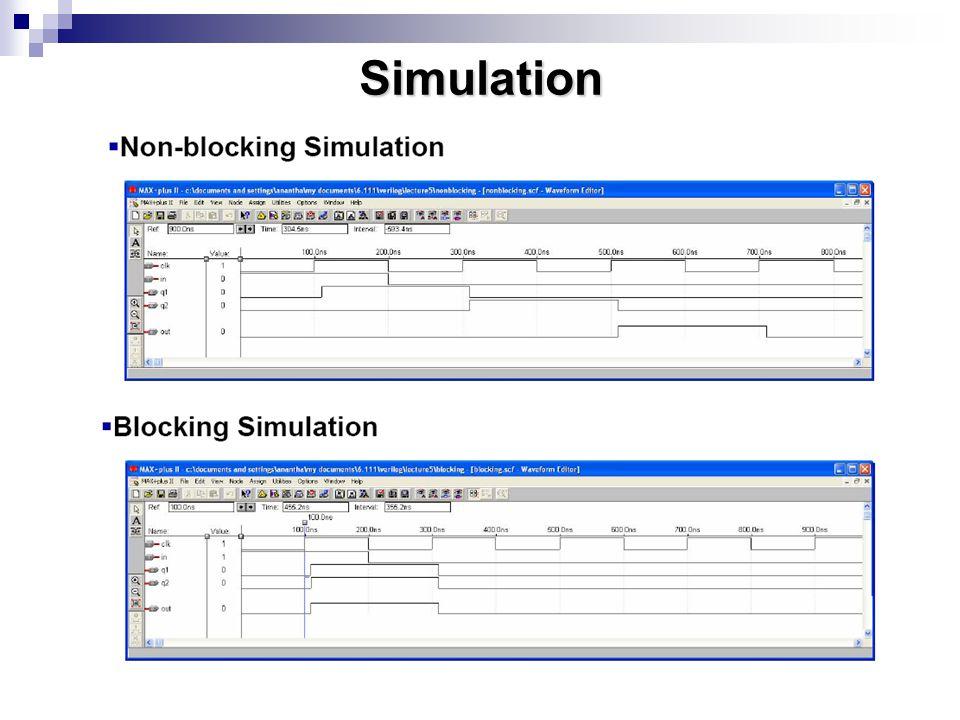 Use Blocking for Combinational Logic