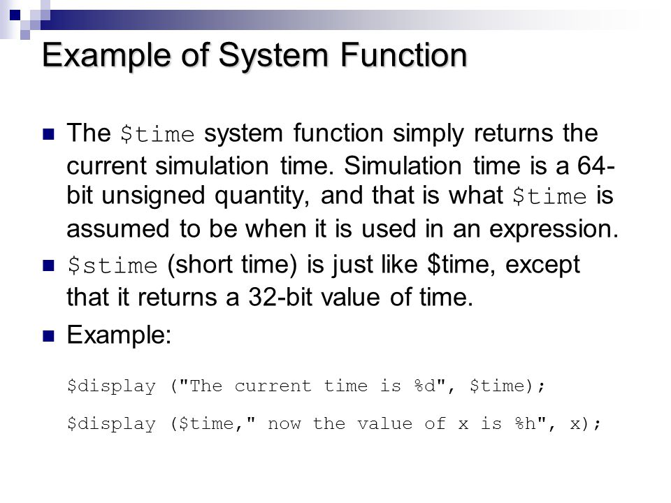 Conversion Function $rtoi(real_value) Returns a signed integer, truncating the real value.