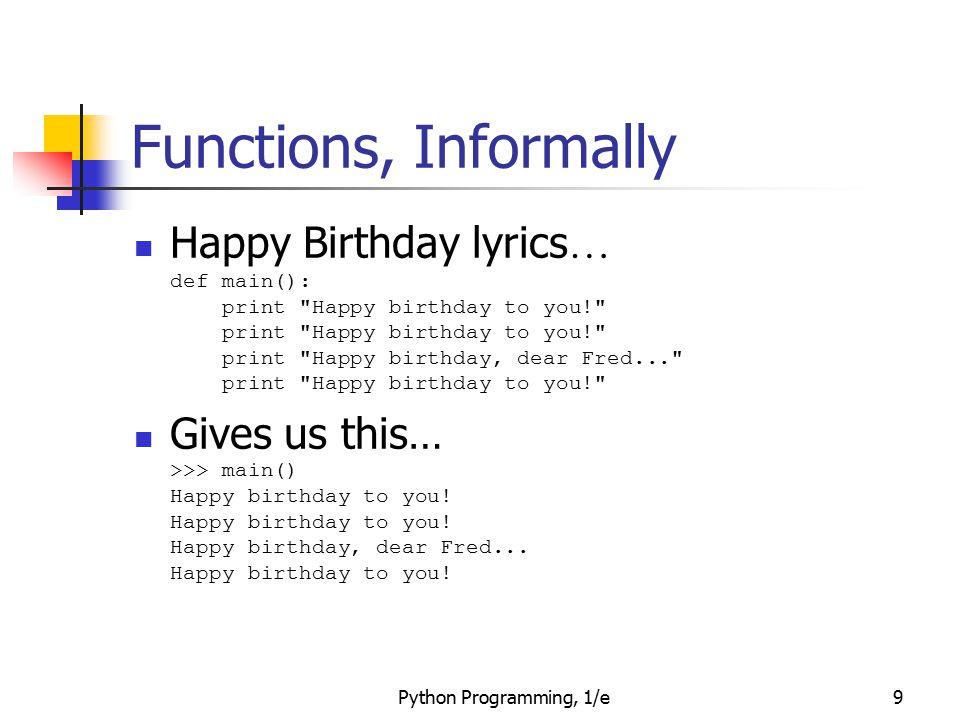 Python Programming, 1/e70 Functions that Modify Parameters