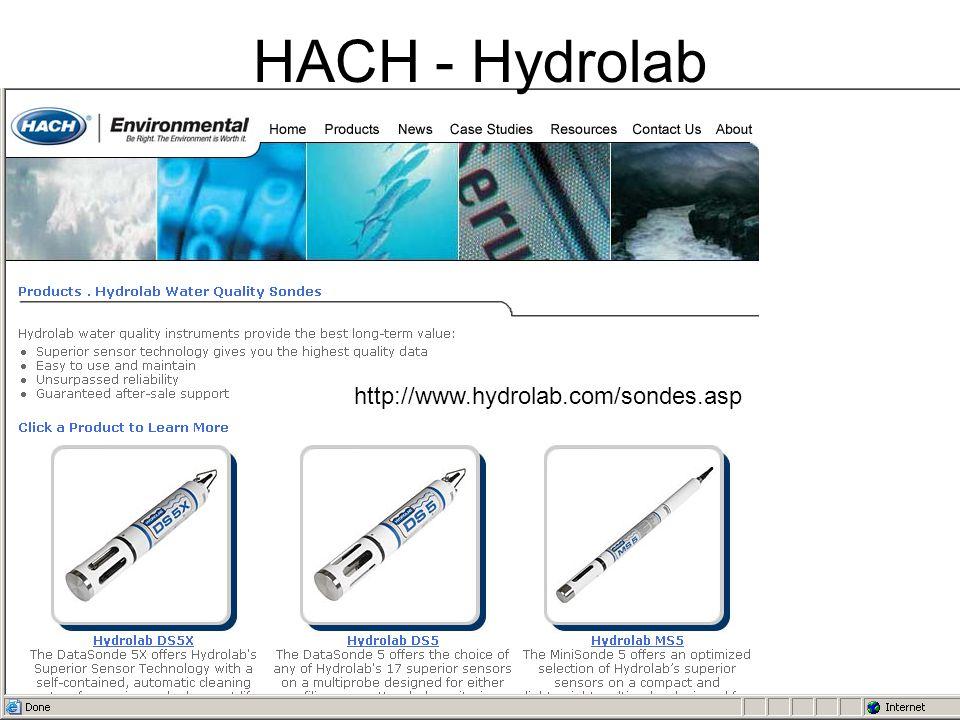 HACH - Hydrolab http://www.hydrolab.com/sondes.asp