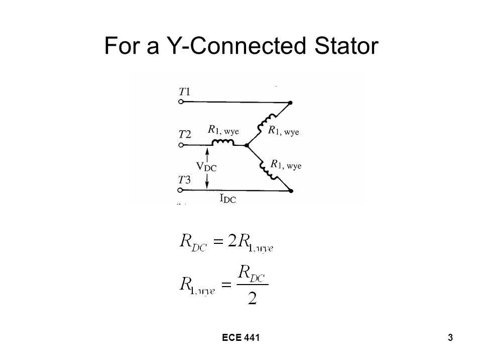 ECE 4414 For a Delta-Connected Stator