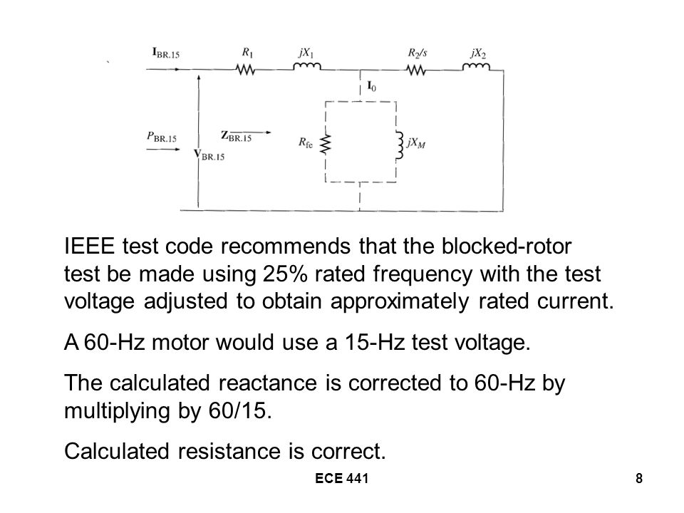ECE 44119 Convert the AC test data to corresponding phase values for a wye-connected motor.