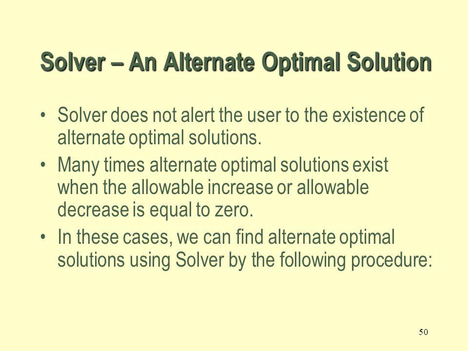 49 Solver – Unbounded solution