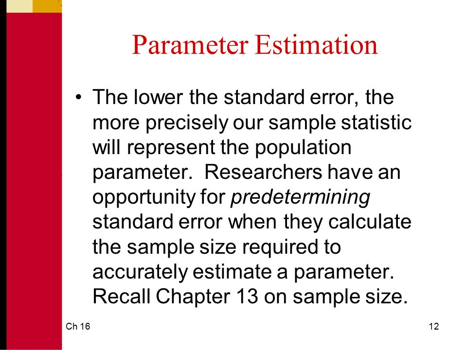Ch 1613 Standard Error of the Mean