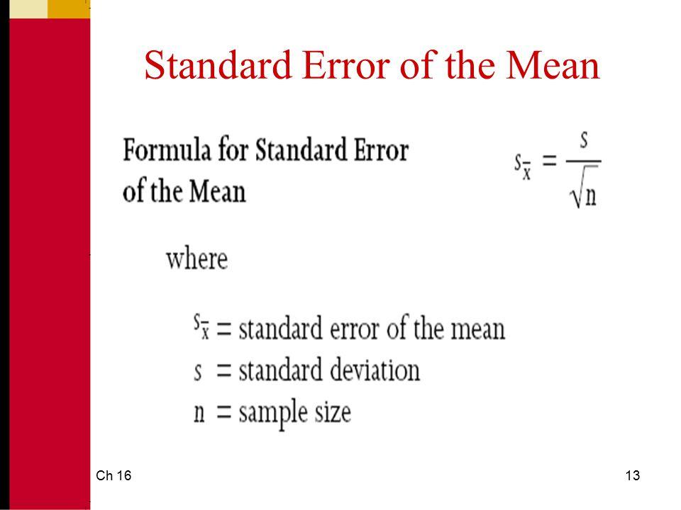 Ch 1614 Standard Error of the Percentage
