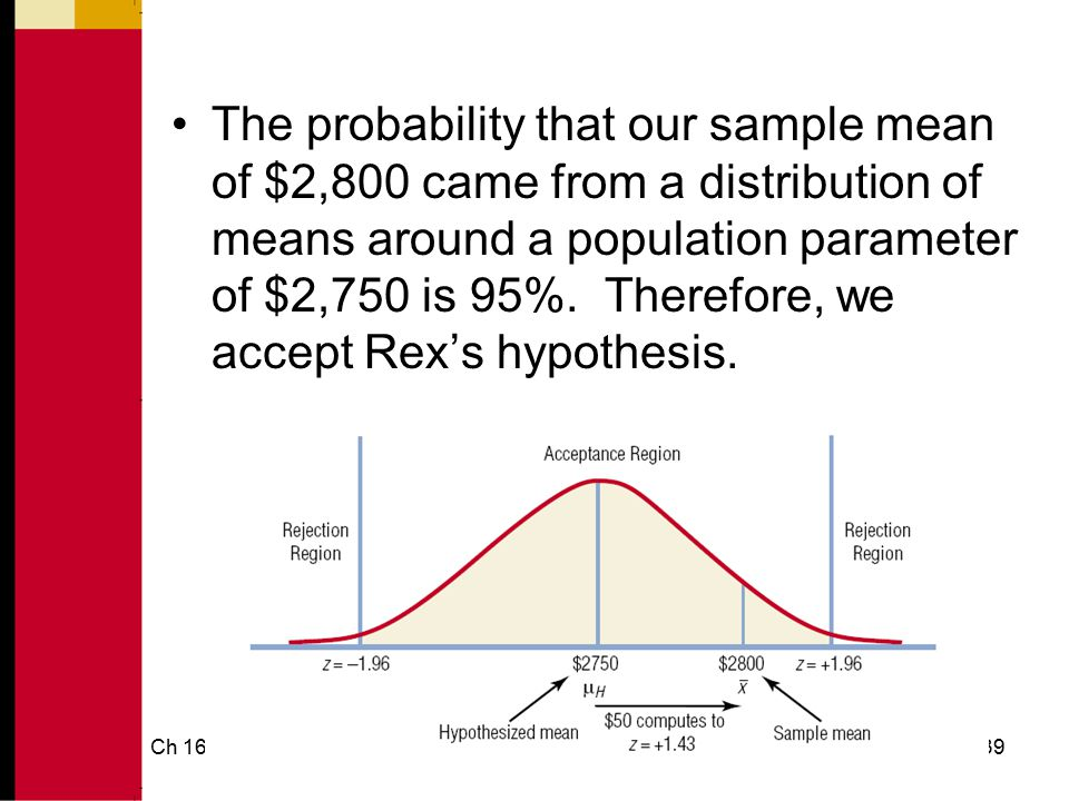 Ch 1640 Hypothesis Testing Non-Directional hypotheses: hypotheses that do not indicate the direction (greater than or less than) of a hypothesized value
