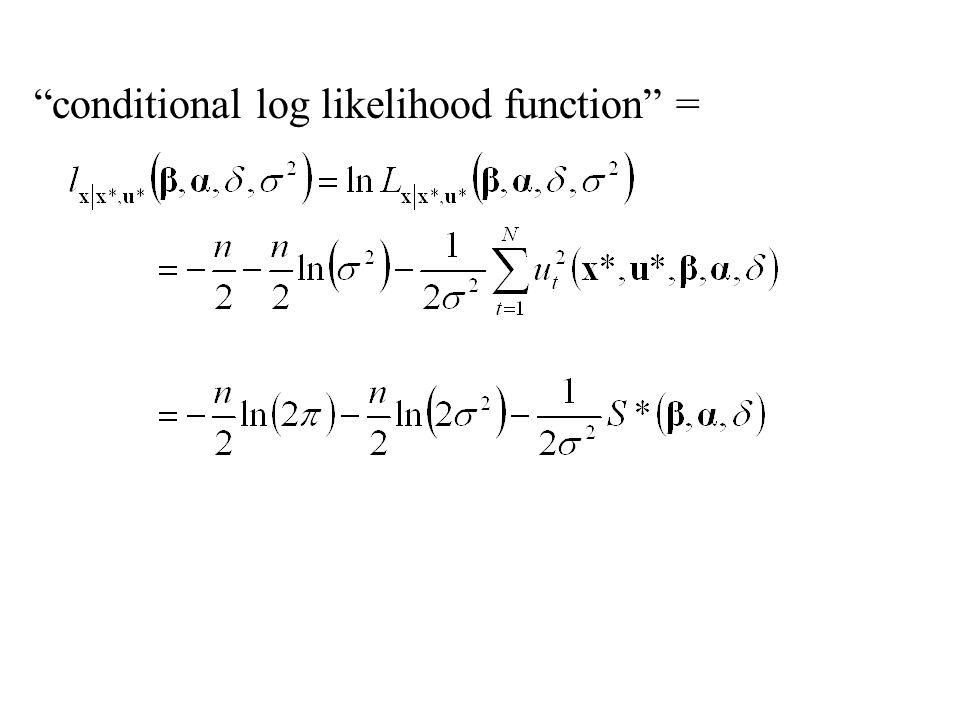 """""""conditional log likelihood function"""" ="""