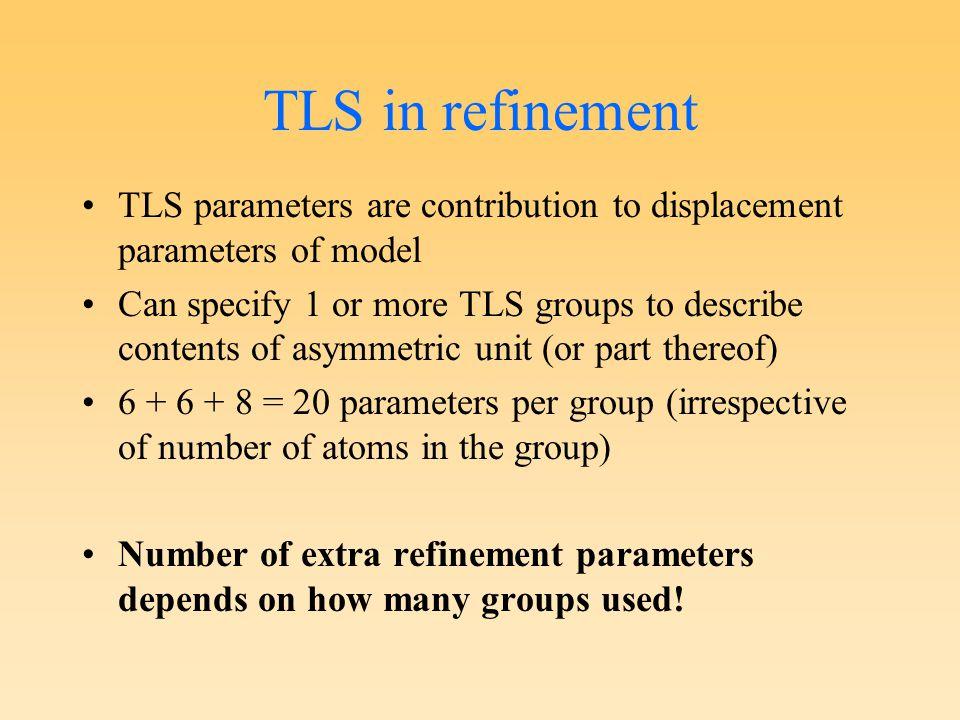 TLS Motion Determination (TLSMD) http://skuld.bmsc.washington.edu/~tlsmd Uses TLSView: J.Painter and E.A.Merritt, Acta Cryst D61, 465 (2005) calmodulin (1exr) 1.0Å N.B.