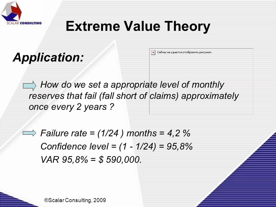 Extreme Value Theory Application: How do we set a appropriate level of monthly reserves that fail (fall short of claims) approximately once every 2 ye