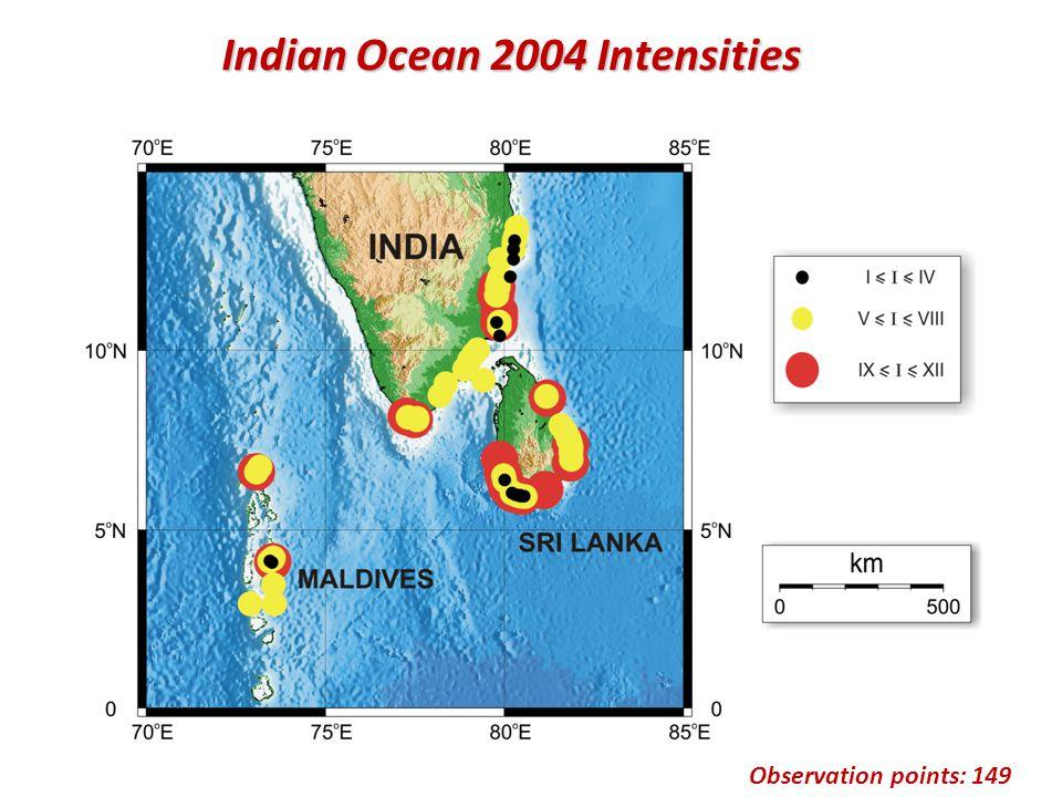 Observation points: 149 Indian Ocean 2004 Intensities