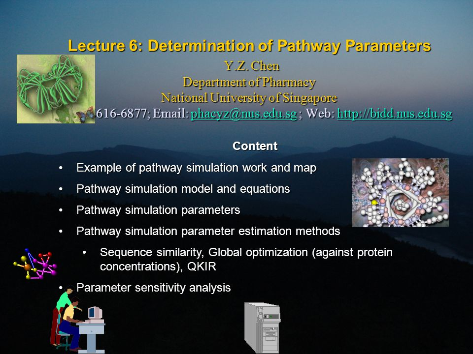Lecture 6: Determination of Pathway Parameters Y.Z.