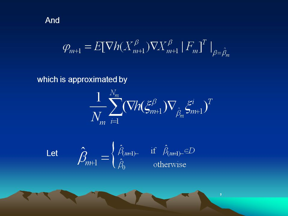 And which is approximated by Let,
