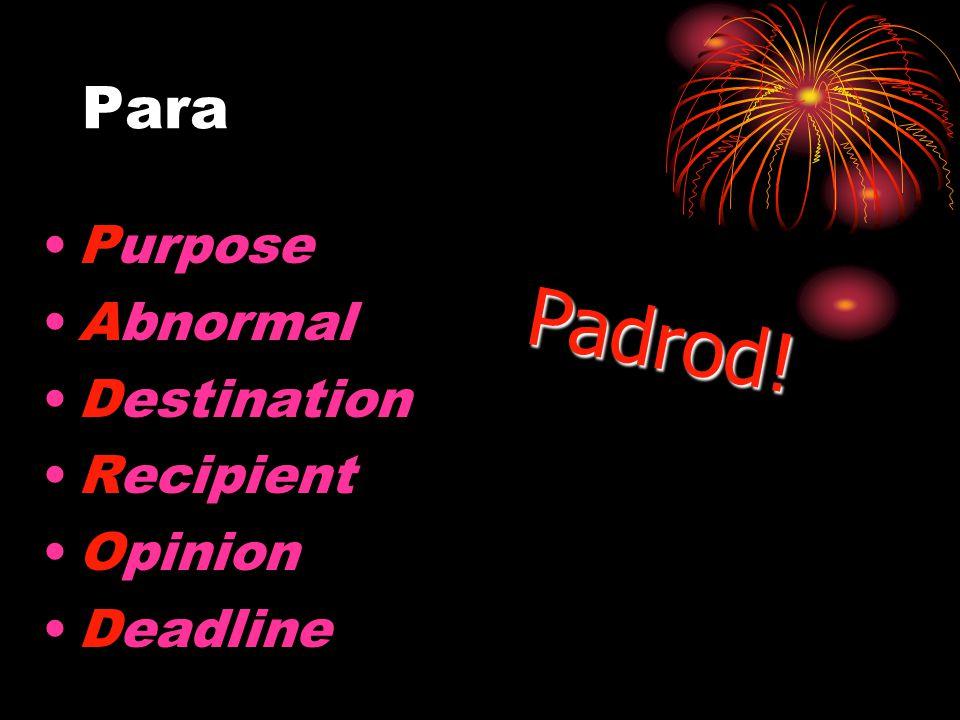 Para Para is used to indicate a deadline: Uds. necesitan terminar el ensayo para las dos y media.