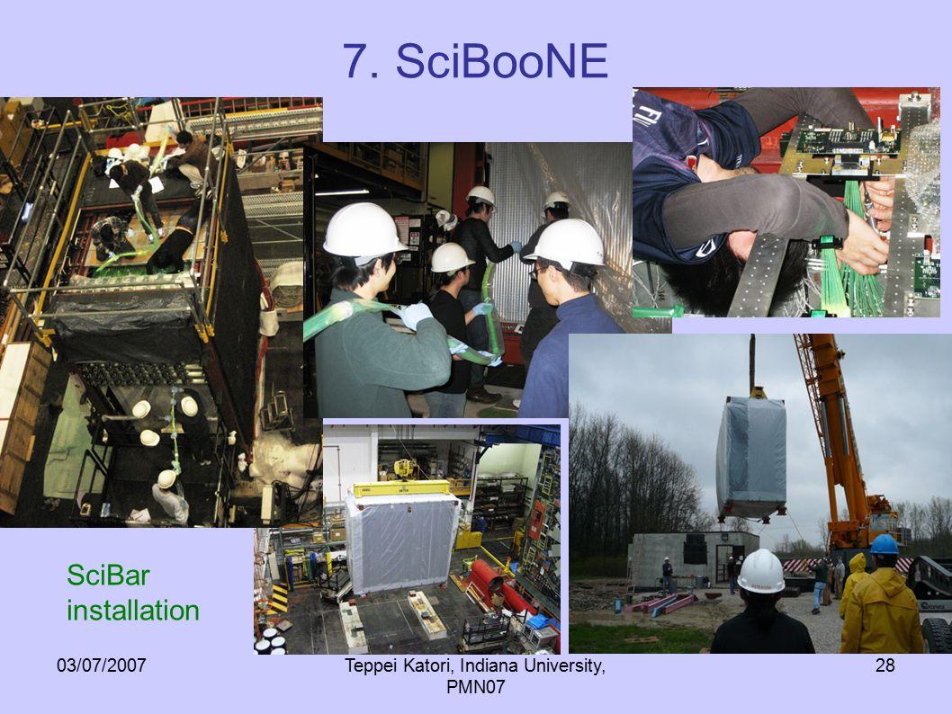 03/07/2007Teppei Katori, Indiana University, PMN07 28 7. SciBooNE SciBar installation