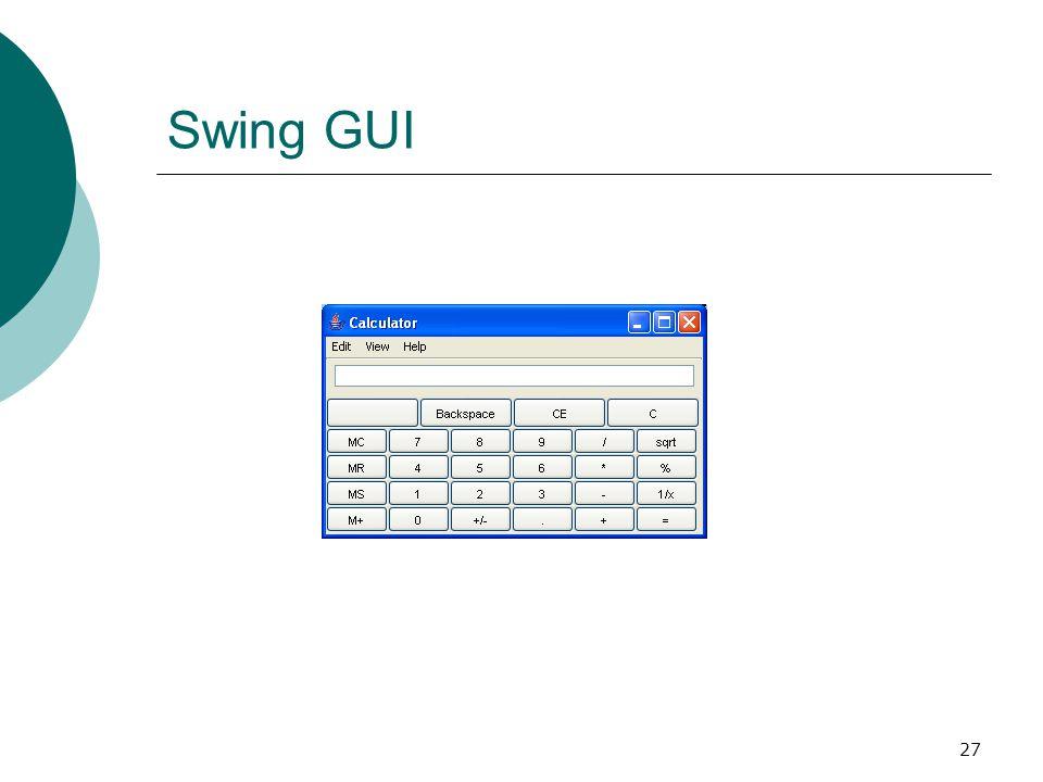 27 Swing GUI