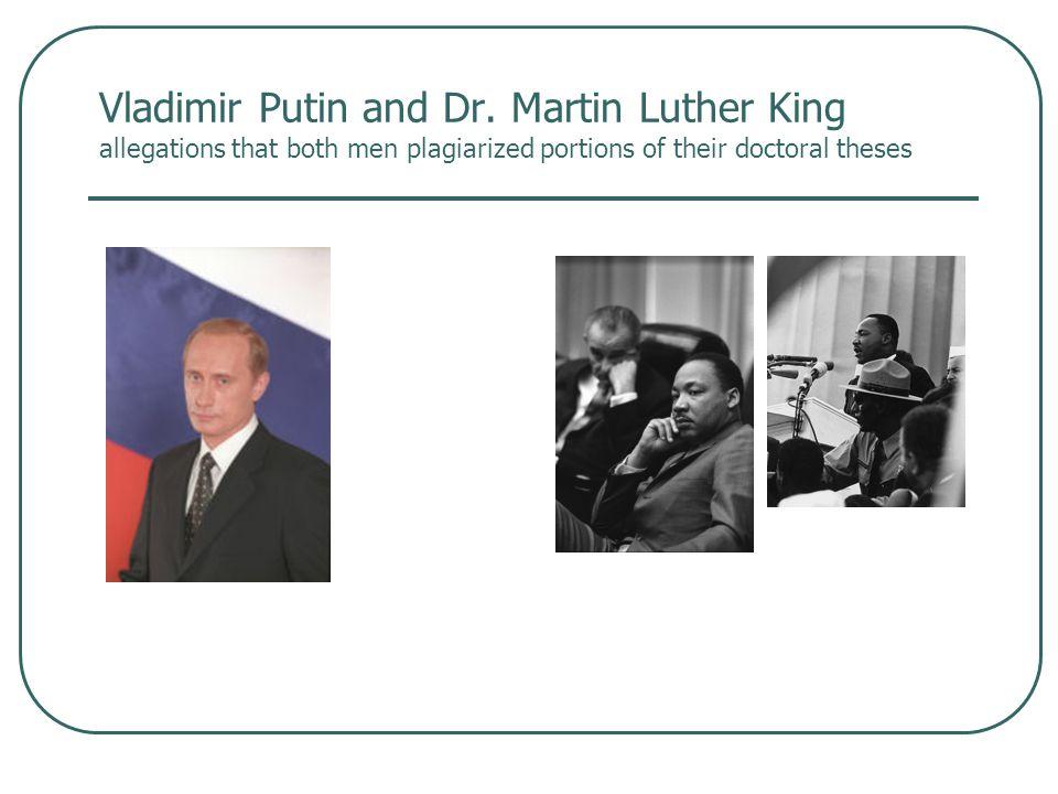 Vladimir Putin and Dr.