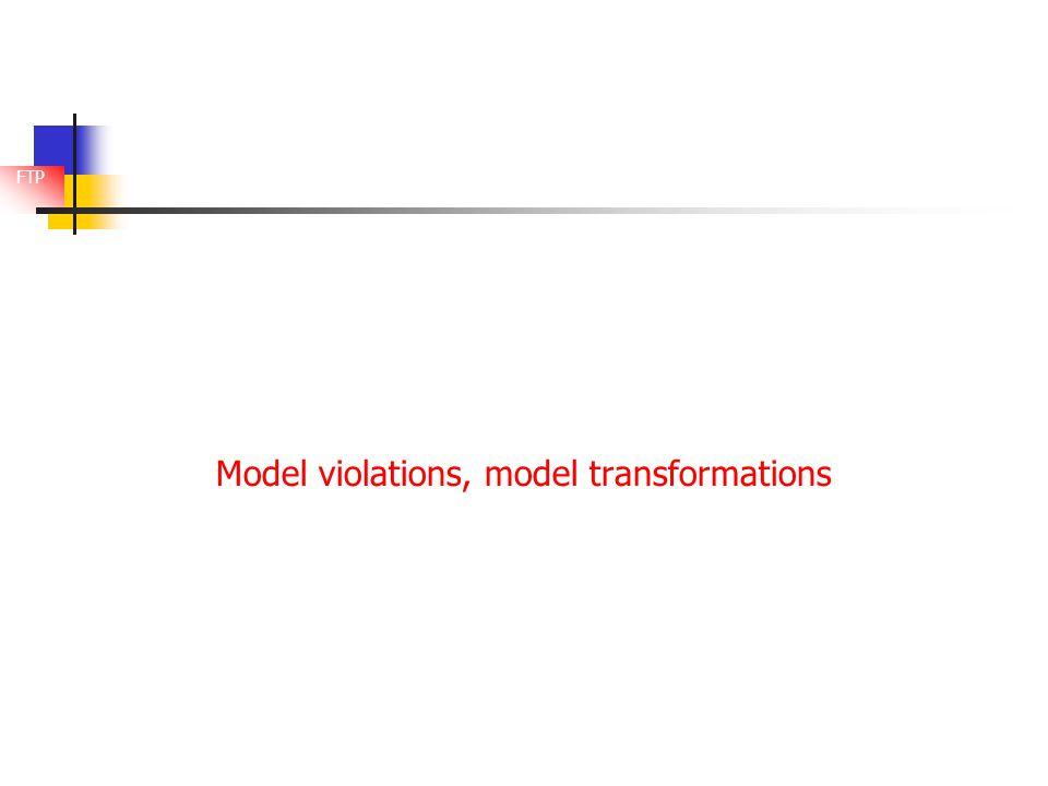 FTP Model violations, model transformations
