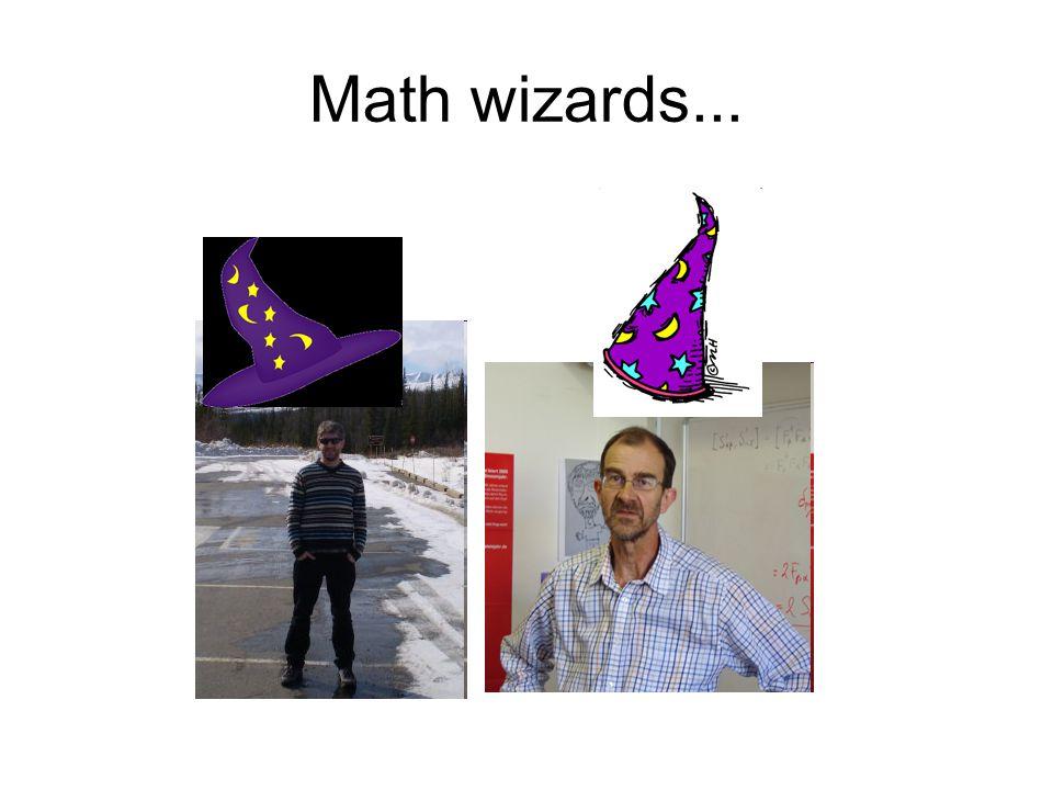 Math wizards...