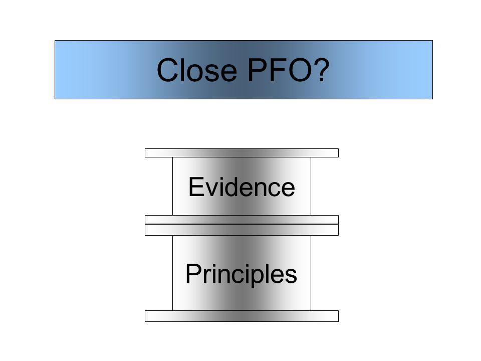 Principles Close PFO Evidence