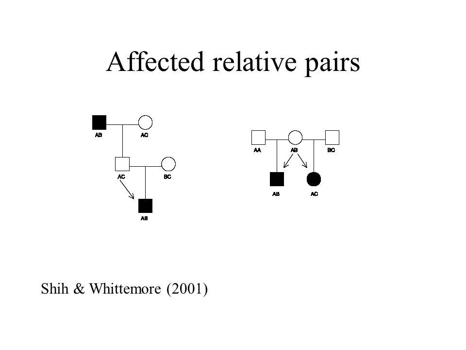 Affected relative pairs Shih & Whittemore (2001)