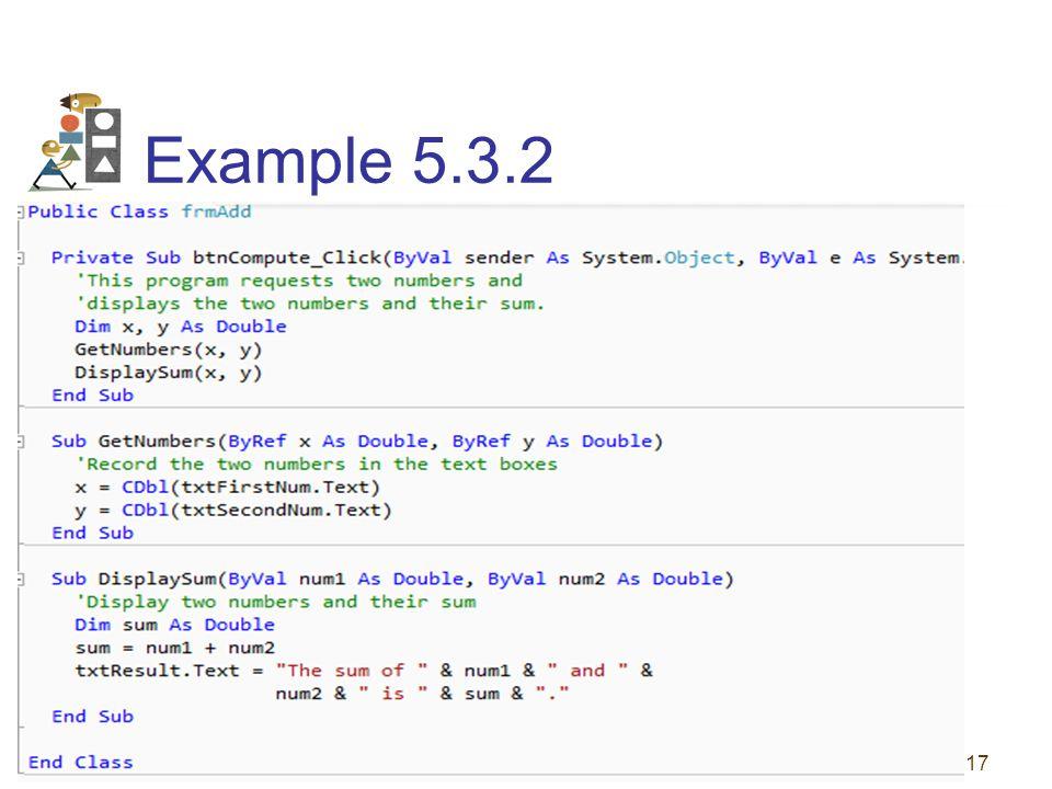 17 Example 5.3.2