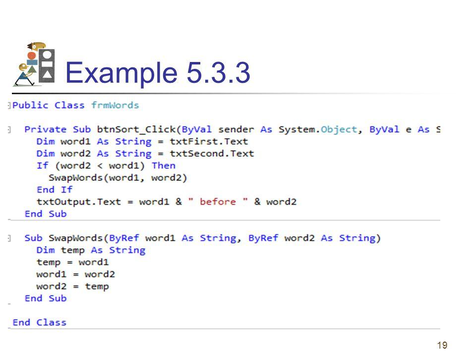 Example 5.3.3 19