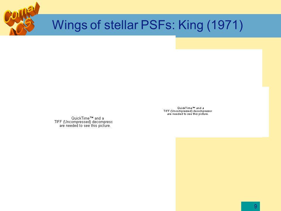 9 Wings of stellar PSFs: King (1971)