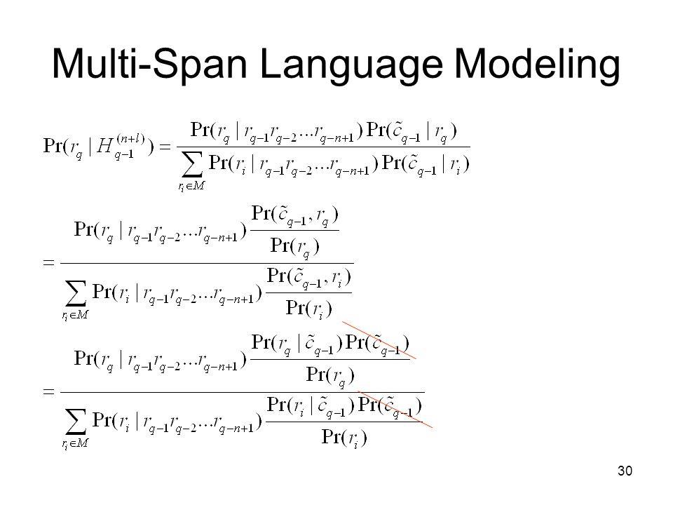 30 Multi-Span Language Modeling