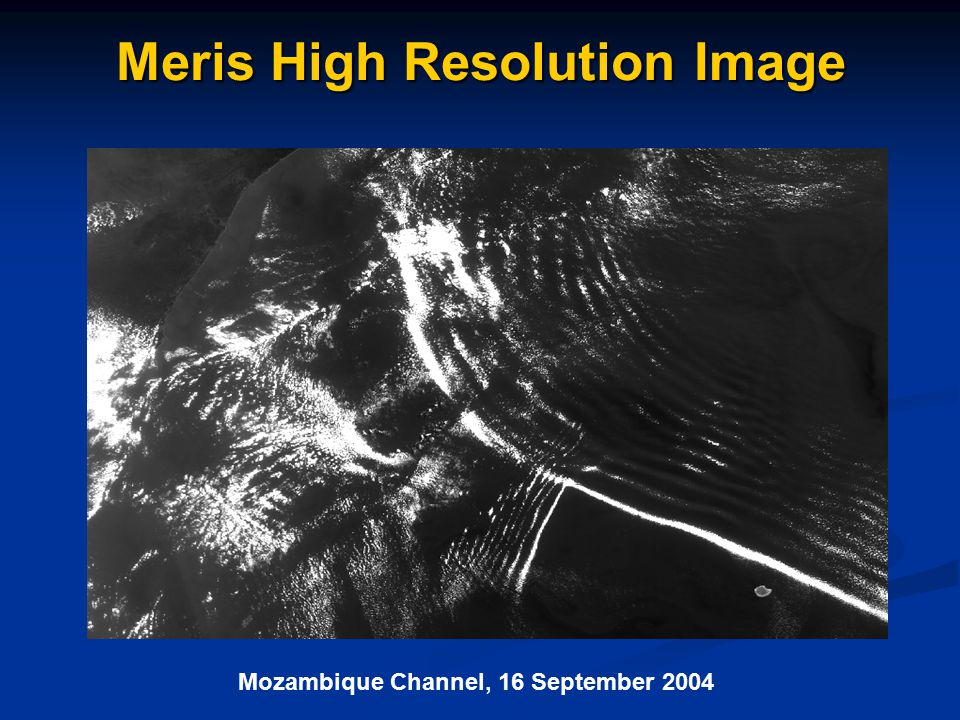 Meris High Resolution Image Mozambique Channel, 16 September 2004
