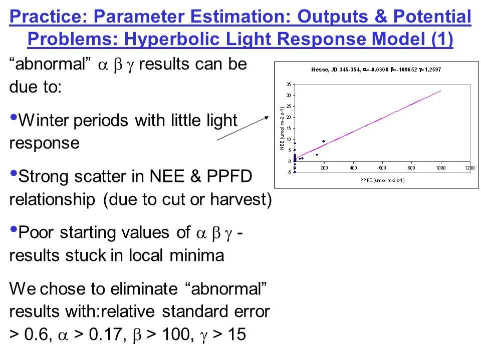 Practice: Parameter Estimation Examples: Grillenburg, Germany