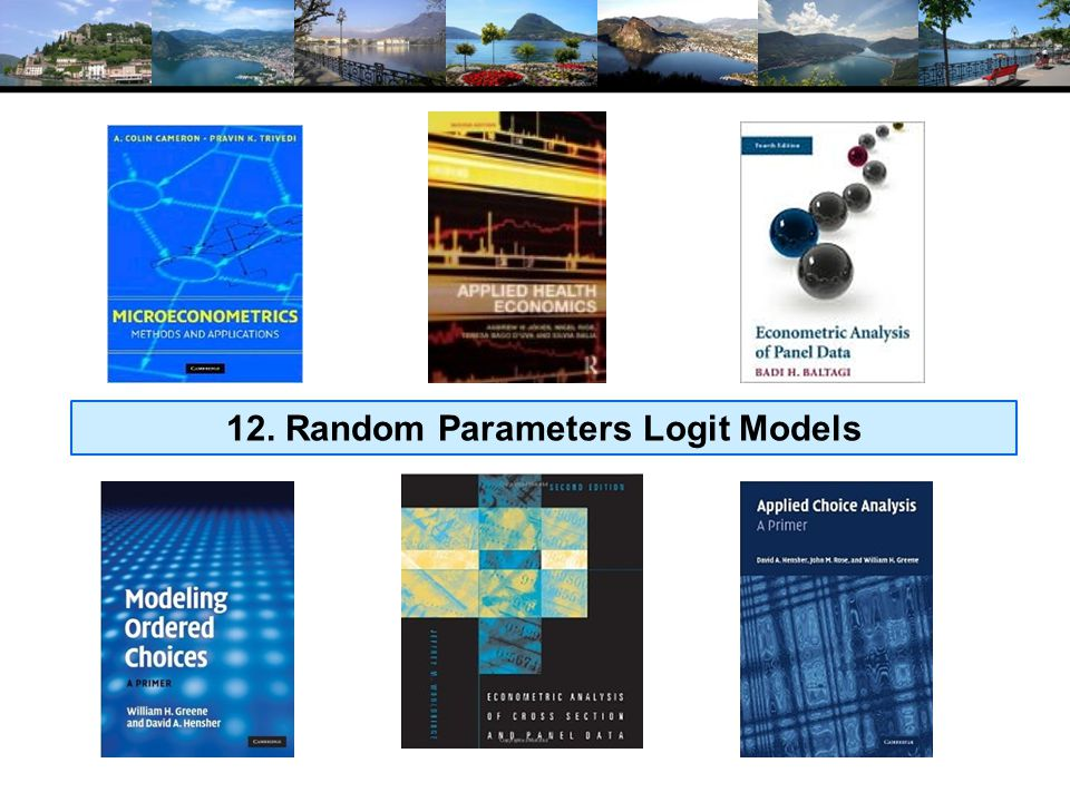 Random Parameters Model Allow model parameters as well as constants to be random Allow multiple observations with persistent effects Allow a hierarchical structure for parameters – not completely random U itj =  1 'x i1tj +  2i 'x i2tj +  z it +  ijt Random parameters in multinomial logit model  1 = nonrandom (fixed) parameters  2i = random parameters that may vary across individuals and across time Maintain I.I.D.