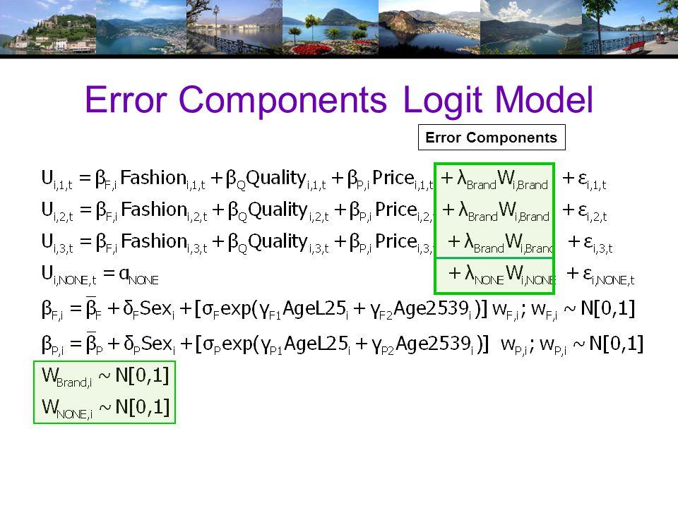 Error Components Logit Model Error Components