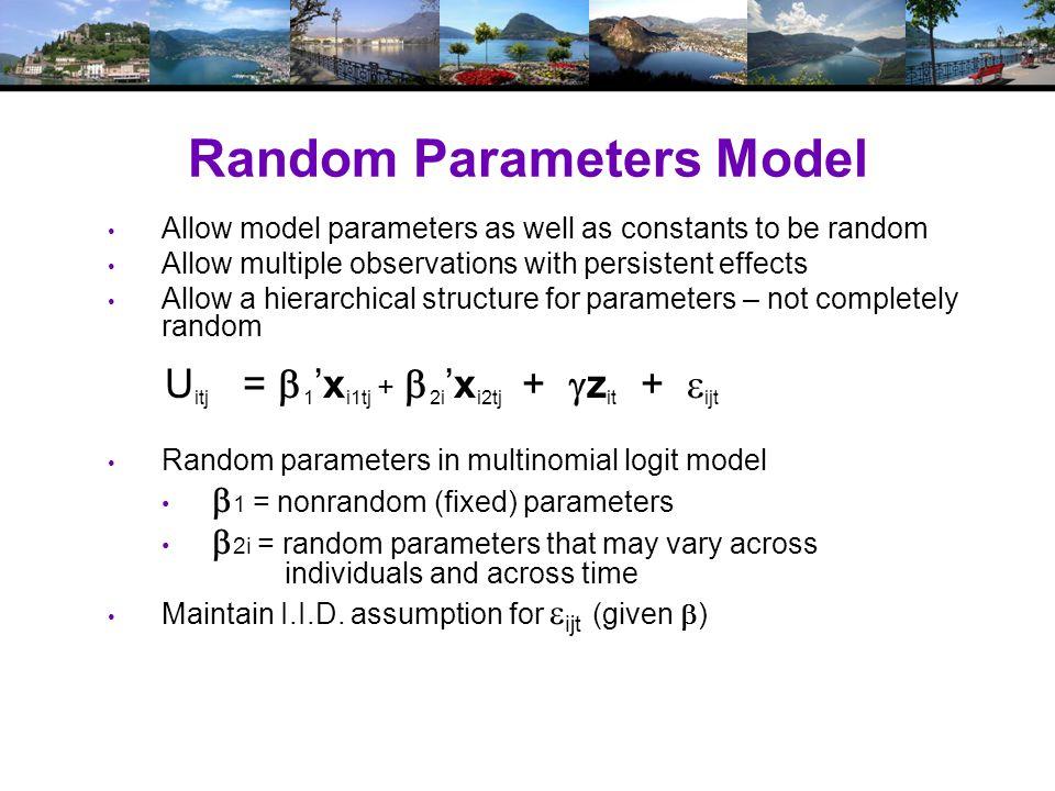Maximum Simulated Likelihood T rue log likelihood S imulated log likelihood