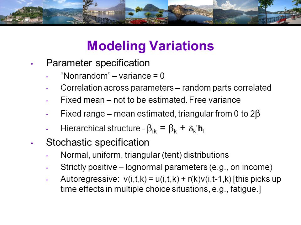 Estimating the Model Denote by  1 all fixed parameters Denote by  2i all random and hierarchical parameters