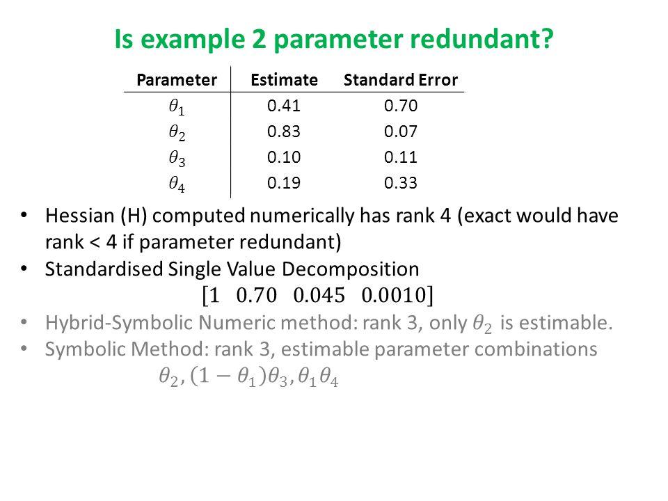 Is example 2 parameter redundant.