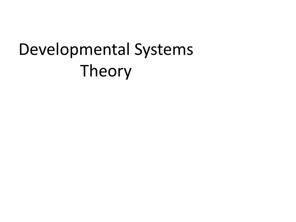 Developmental Systems Theory