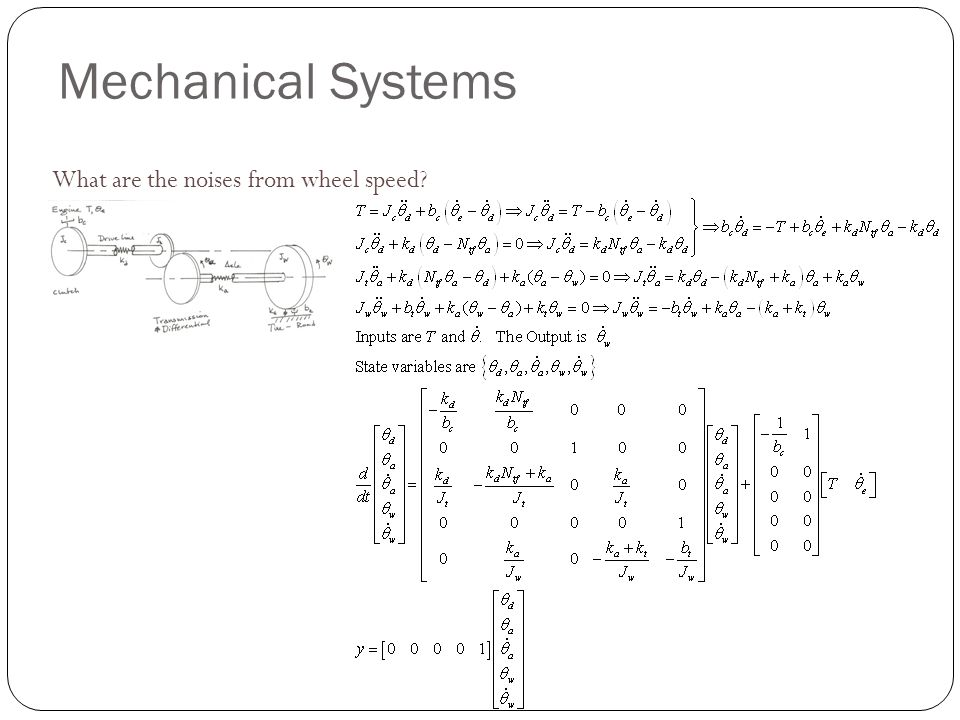 Mechanical Systems What are the noises from wheel speed?