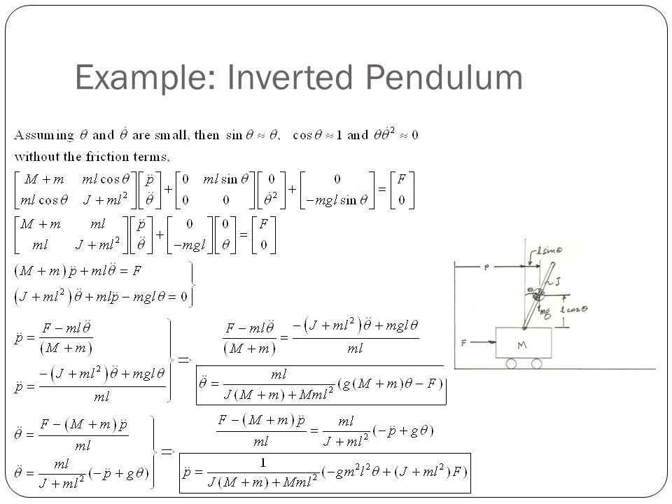 Example: Inverted Pendulum