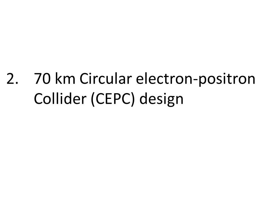 2.70 km Circular electron-positron Collider (CEPC) design