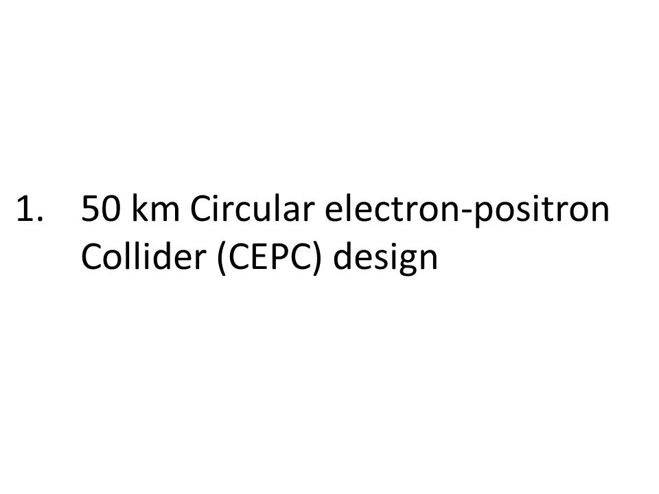 1.50 km Circular electron-positron Collider (CEPC) design