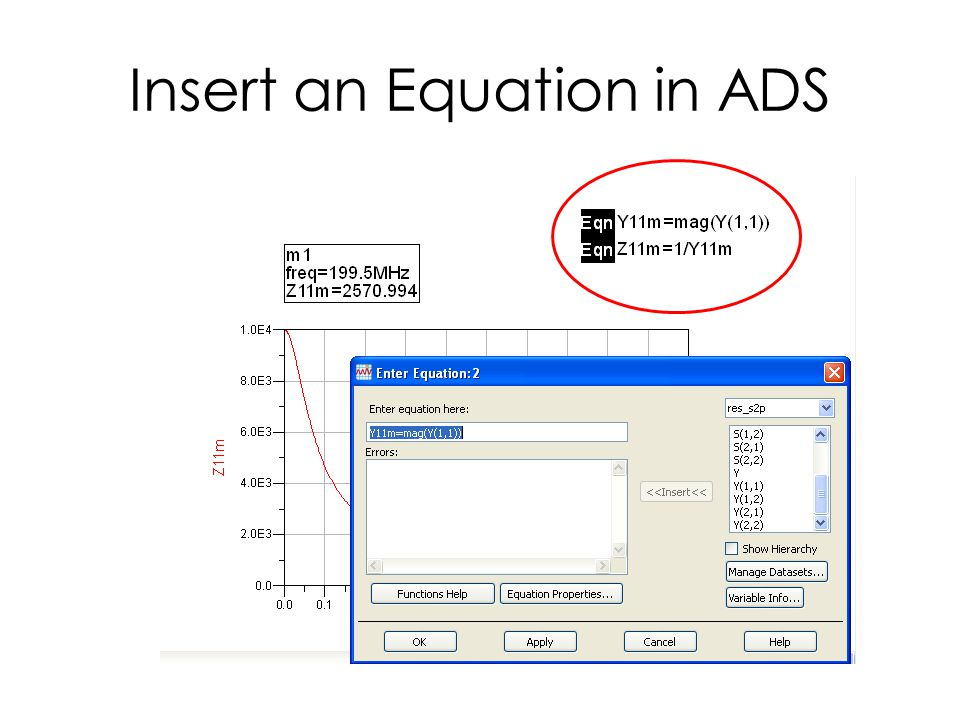 Insert an Equation in ADS