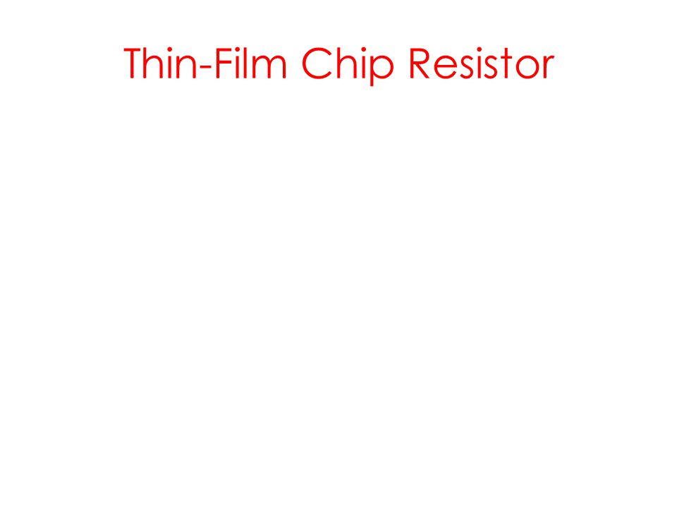 Thin-Film Chip Resistor